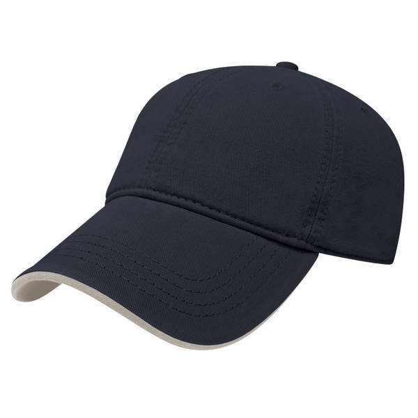 Two Tone Ultra Brushed Cotton Unconstructed Cap