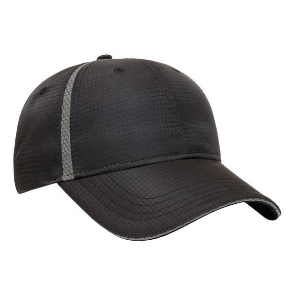 Polyester Performance Constructed Cap with Textured Mesh Inserts
