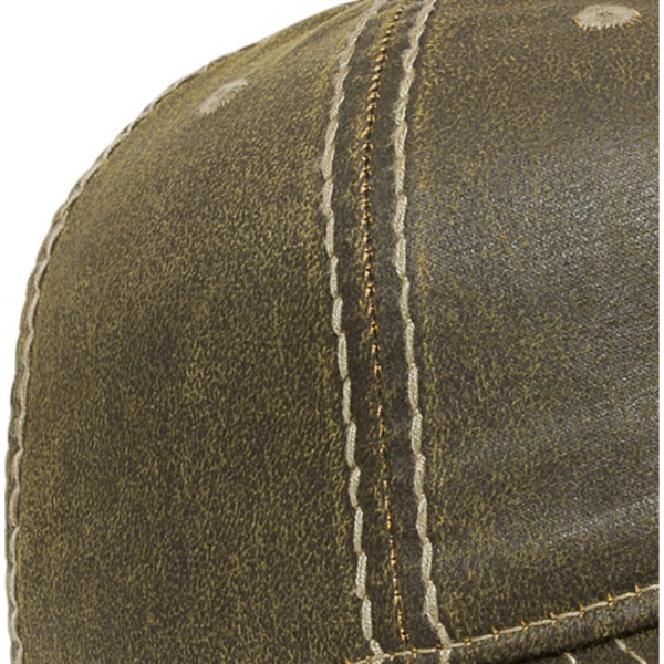 Faux Leathered Poly Cotton Unconstructed Cap