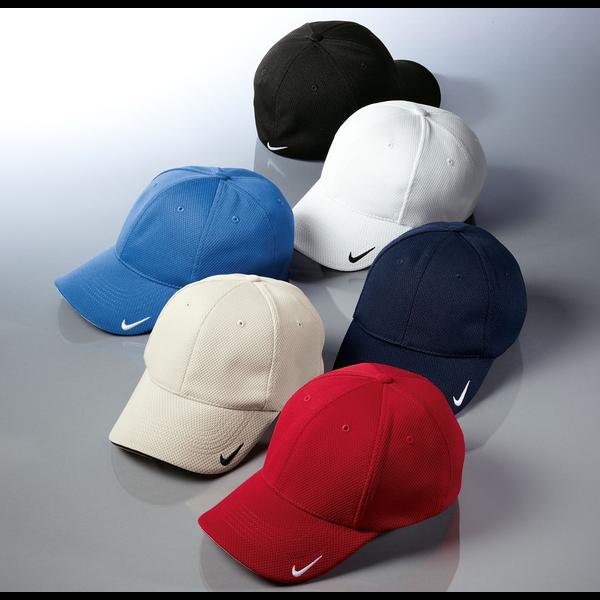 NIKE® Golf Dri-FIT Mesh Swoosh Flex Constructed Fitted Sandwich Cap