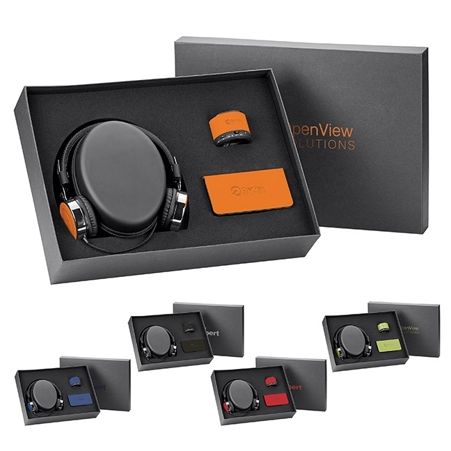 Donald Headphones, Power Bank, and Speaker Gift Set