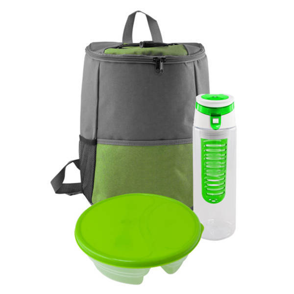Trendy Infuser & Sectional Container Backpack Set