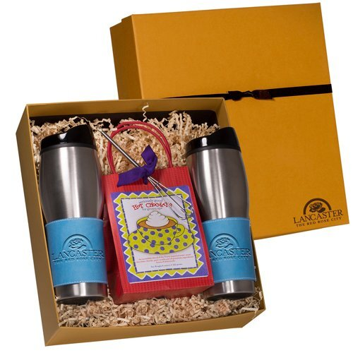 Ainsley Decadent Cocoa with Two 16 oz. Tumblers Gift Set