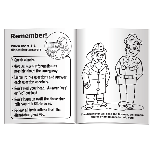 call 911 coloring pages - photo#12