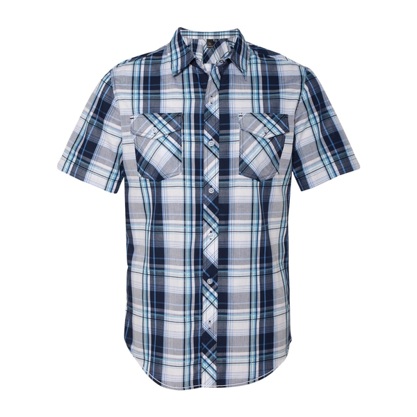 Burnside plaid men 39 s short sleeve shirt promotions now Short sleeve plaid shirts