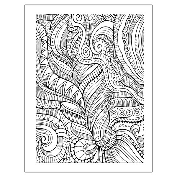 Adult Coloring Book Patterns Theme with Colored Pencils  Health