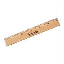 """Clear Lacquer Beveled Wood Ruler, 6"""""""
