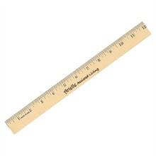 Clear Lacquer Wood Ruler, 12""