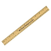 Clear Lacquer Wood Ruler with Both Scales, 12""