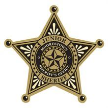 Junior Sheriff 5 Point Foil Sticker Badge, Custom