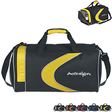 "Sporty 600D Polyester Duffel Bag, 19"" - Free Set Up Charges!"