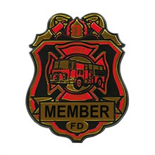 Large Kids Junior Fire Chief Badge, Stock