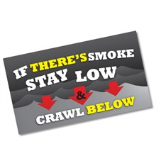 Stay Low & Crawl Below Business Card Magnet, Stock - Closeout!
