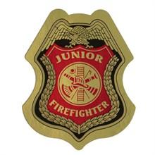 Junior Firefighter Foil Sticker Badge, Stock