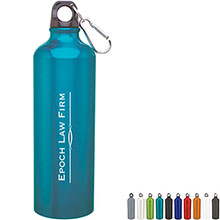 Aluminum Sport Bottle w/ Carabiner, 24oz. - Free Set Up Charges!