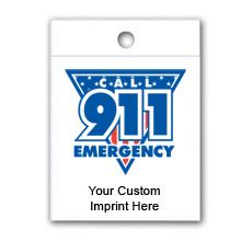 Custom Litterbag, Call 911 Emergency