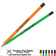Practice Fire Safety Every Day Neon Pencil