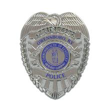 Junior Police Shield Badge with Pocket Clip, Custom