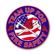 Team Up For Fire Safety Sticker Roll, Stock