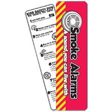 Smoke Alarms Bookmark, Stock- Closeout, On Sale!