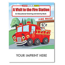 A Visit to the Fire Station Coloring & Activity Book