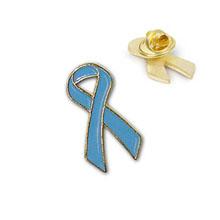 Sky Blue Ribbon Lapel Pin