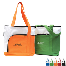Sonoma Bright Zippered 600D Tote - Free Set Up Charges!