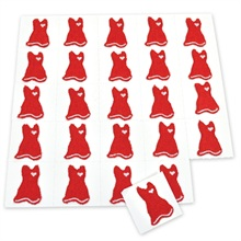 Red Dress Heart Health Awareness  Embroidered Applique, Stock - On Sale, Closeout!