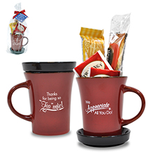 "Appreciation Tea Mug Gift Set, ""Thanks For Being So Tea-riffic!"" Design, Stock"