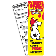 Be Smart About Fire Safety Bookmark, Stock