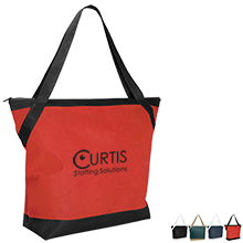 Grande Non-Woven All Purpose Zippered Tote - Free Set Up Charges!