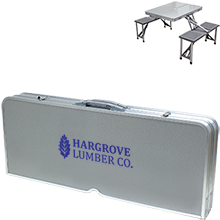 Aluminum Folding Table with Seats
