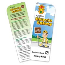Bicycle Safety Bookmark