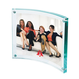 "Arc Acrylic Photo Frame, 3-1/2"" x 4-1/4"""