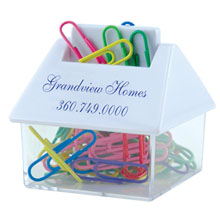 House Shaped Paper Clip Dispenser