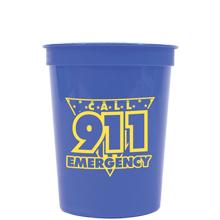Call 911 Emergency Stadium Cup, Stock, 16oz.