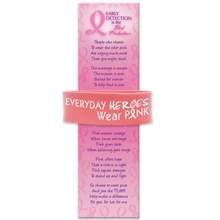 "1"" Wide Silicone Bracelet & Bookmark, ""Everyday Heroes Wear Pink"", Stock - On Sale - Closeout!"