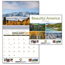 Beautiful America Wall Calendar