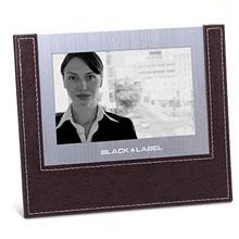 Leather Trim Photo Frame