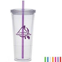Acrylic Beverage Tumbler, 24oz., BPA Free