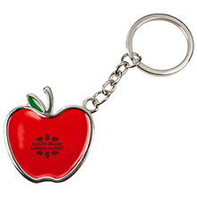 Apple Key Chain w/ Leather Strap
