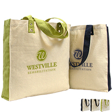Bridgeport Color Accented Cotton Canvas Tote Bag