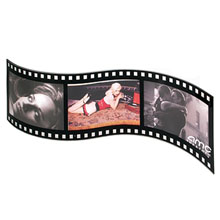 Acrylic Film Triple Photo Frame