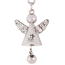 Angel Jeweled Key Chain w/ Jingling Bell
