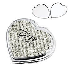 Jewelry Heart Compact Mirror