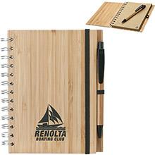 """Bamboo Notebook & Pen, 5-3/4"""" x 7-1/8"""""""