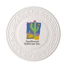 Absorbent Southwestern Ceramic Coaster w/ Full Color Imprint