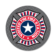Visited The Fire Station Sticker Roll, Stock - Closeout!