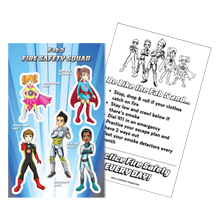 Fab 5 Fire Safety Squad Sticker Sheet, Stock