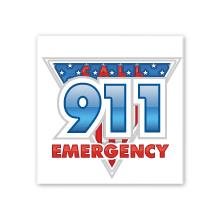 Call 911 Emergency Temporary Tattoo, Stock